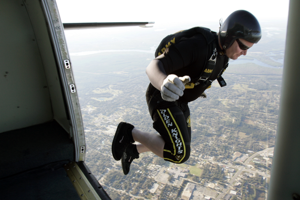 Skydiver in Florida, 2008.