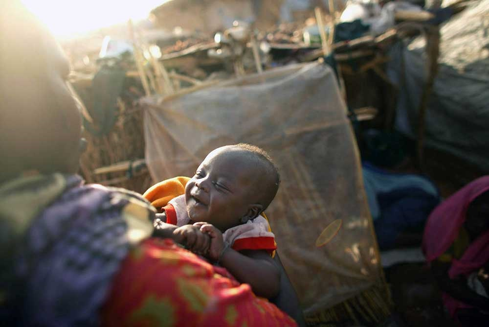 Al Riyadh camp for displaced people, Sudan, 2005.