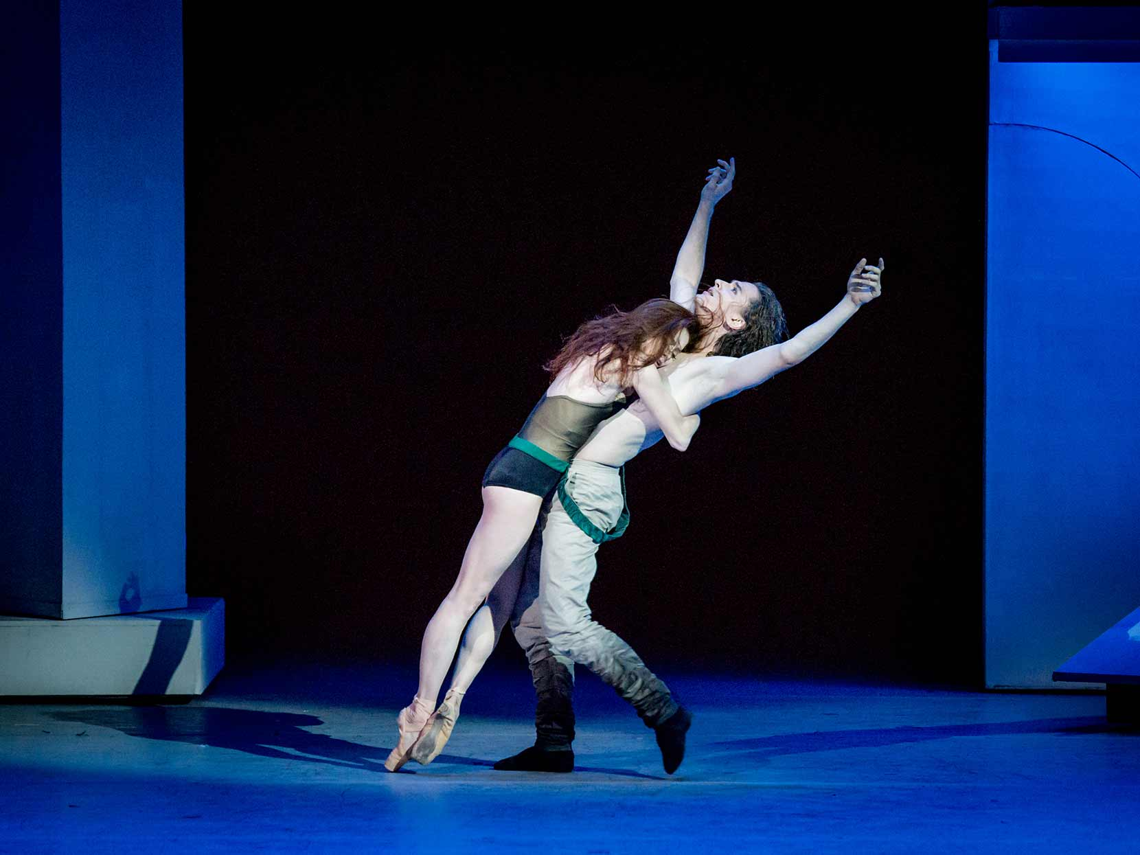 Ekaterina Krysanova and Vladislav Lantratovof the Bolshoi Ballet in The Taming of the Shrew