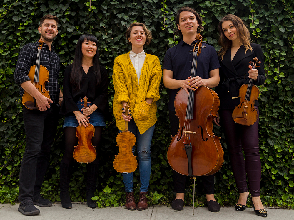 Attacca Quartet and Caroline Shaw (center)