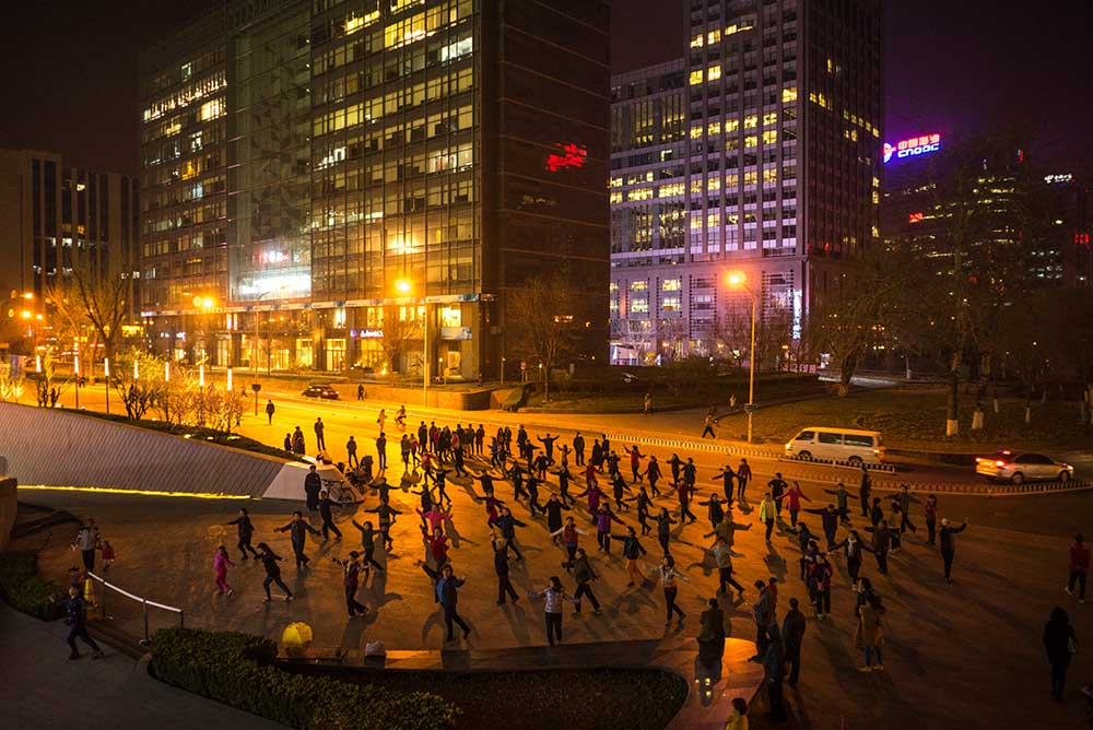 Mass dance in Beijing, China, 2015.